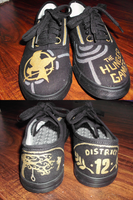 Hunger Games shoes by squidneyemma