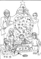 Uncoloured E_E Christmas Pic by MacabreAustereRelume