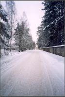 Winter road by Proxile