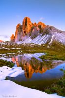 First snow on Lavaredo's peaks by Verdenwelt