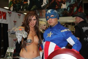 The Witchblade and Captain America by cablex452