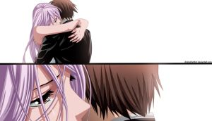 Rosario Vampire-Tsukune and Moka by AnimeFanNo1