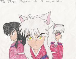 3 Faces of Inuyasha by SailorArctic