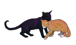 Leafpool and Crowfeather by Alex-Harrier