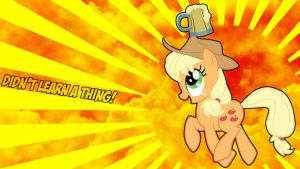 Applejack Didn't Learn A Thing Wallpaper by Kigaroth
