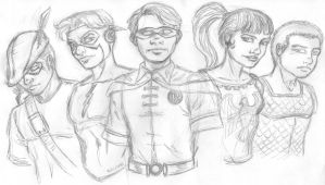 SKETCH TEEN TITANS by studioquimera