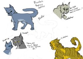 Bluestar's Prophecy Sketches by Simatra