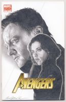 Scarlett Johansson and Jeremy Renner as Avengers by smoothdaddyride