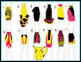 Pokemon_Pikachu_SKIRTS by mzclark