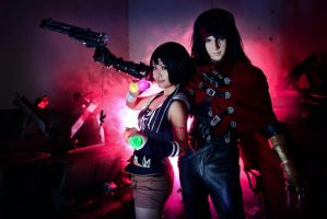 FFVII: The Gunslinger and the Ninja by Astellecia