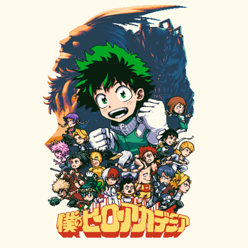 JUMP Pixel Series - My Hero Academia Class 1A by rikognition