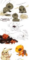 Sketchdump - PMD-E and Others by Aishishi