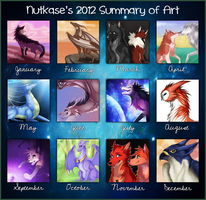Summary of Art 2012 by The-Nutkase