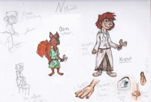 Nixso Reference Sheet by MousieDoodles