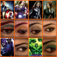 Avengers makeup! by magentaluv