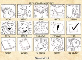 English book, some icons by Aleccha