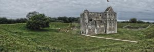 Castle Rising Panorama by Lipston