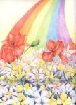 Rainbow Blooms by JoannaBromley