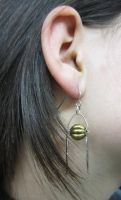 Snitch Earrings--Silver by WhisperingWindxx