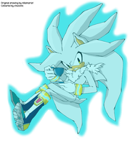 Silver The Hedgehog (work together) by chusonic