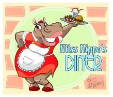 Miss Hippo's Diner by FutureDwight