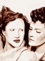 Nell n Patricia:Drawing by inicka