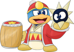 King Dedede swallows the fight by JuacoProductionsArts