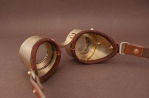 Steampunk Goggles - inside by Haraldr32