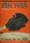 Xen 1459 and The Star Fury Speederbike Poster by ranits123