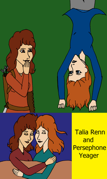 Talia and Persephone by SquiddlePrincess