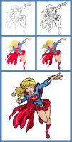 Supergirl - Process by GreenArrow