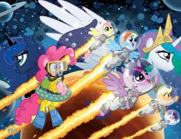My Little Pony #21/ Friends Forever #7 Jetpack CVR by TonyFleecs
