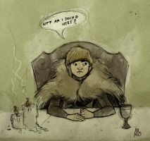 Game of Thrones S2 Bran by snowapples