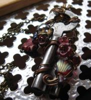 Skeleton Key Steampunk Necklace by sojourncuriosities