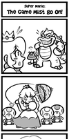 Super Mario Comic - The Game Must Go On! by JamesmanTheRegenold