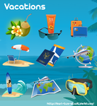 Vacation Cliparts by gnokii