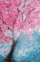 cherry blossom tree by t-r-bandit