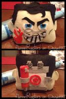 TF2 Medic Mini Pillow by flannelRaptors