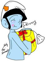 Delivery Smurf :GIFT: by FairyTail-Shovanna
