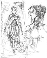 Curwo's wife concept-sketch by Righon