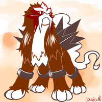 244 - Entei by Combo89