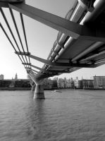 Crossing the Thames by tracy-Me