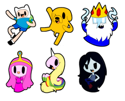 Adventure Time Chibis by SilviShinystar
