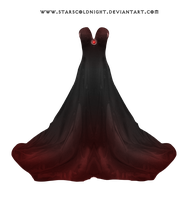Dark Red Dress By Starscoldnight by StarsColdNight