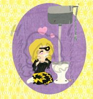 Marie Mjolnir and Toilet love by hiddentalent1