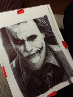 Joker Ballpoint Sketch by ChrisHerreraArt