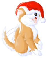 Christmas Mochi Puppy 2006 by PewterKat