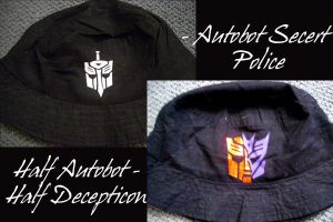 Transformers Hats by Shioji-san