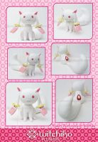 New Kyubey plush::::: by Witchiko