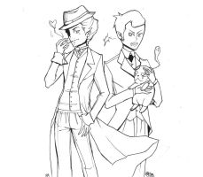 Holmes Watson and THEIR dog by pandastic